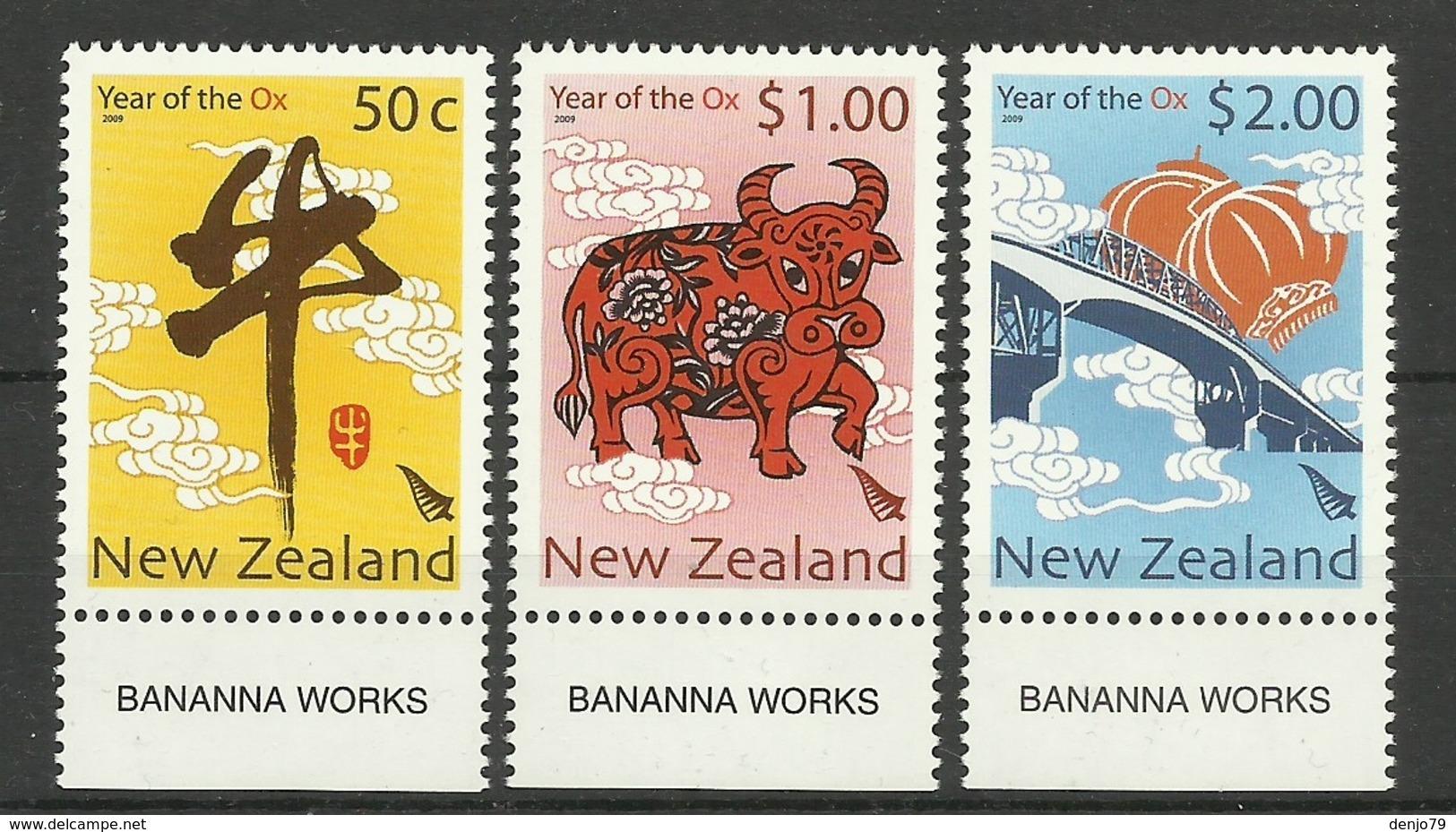 NEW ZEALAND  2009  YEAR OF THE OX  SET MNH - Nieuw-Zeeland