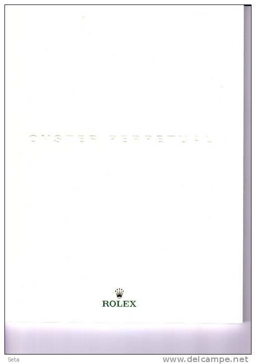 ROLEX,CATALOGO Orologi OYSTER PERPETUAL,115 Pagine Splendide Immagini,tutti I Modelli - Orologi Da Polso