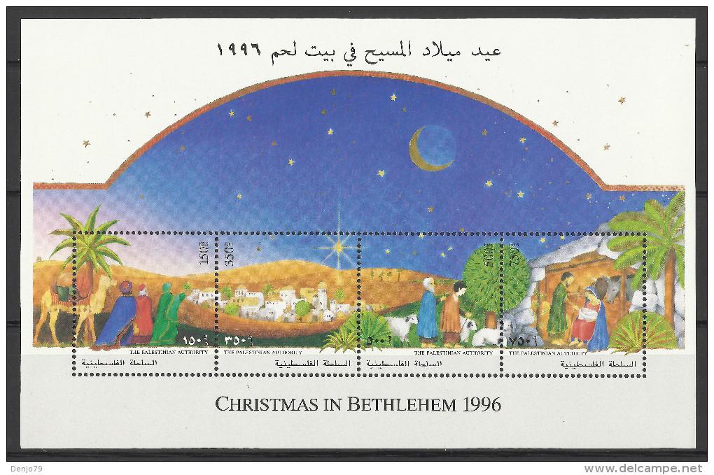 PALESTINE 1996 CHRISTMAS SHEET MNH - Palestina