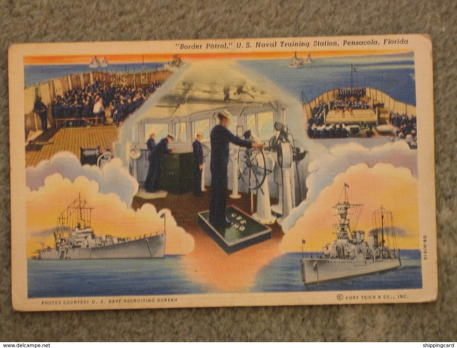 BORDER PATROL US NAVAL TRAINING STATION, PENSACOLA, FLORIDA, USA - Warships
