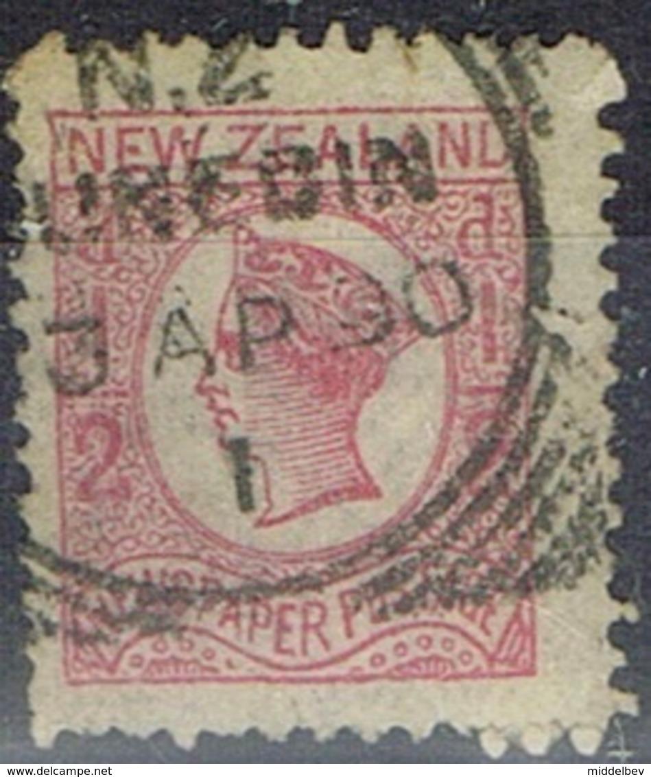 DO 6462 NEW ZEELAND GESTEMPELD  YVERT NR 37a ZIE SCAN - 1855-1907 Crown Colony