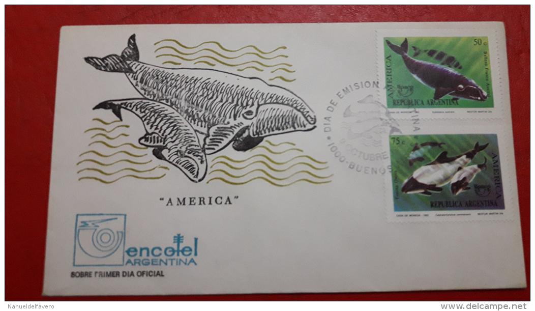 L'Argentine FDC Des Baleines - Ballenas