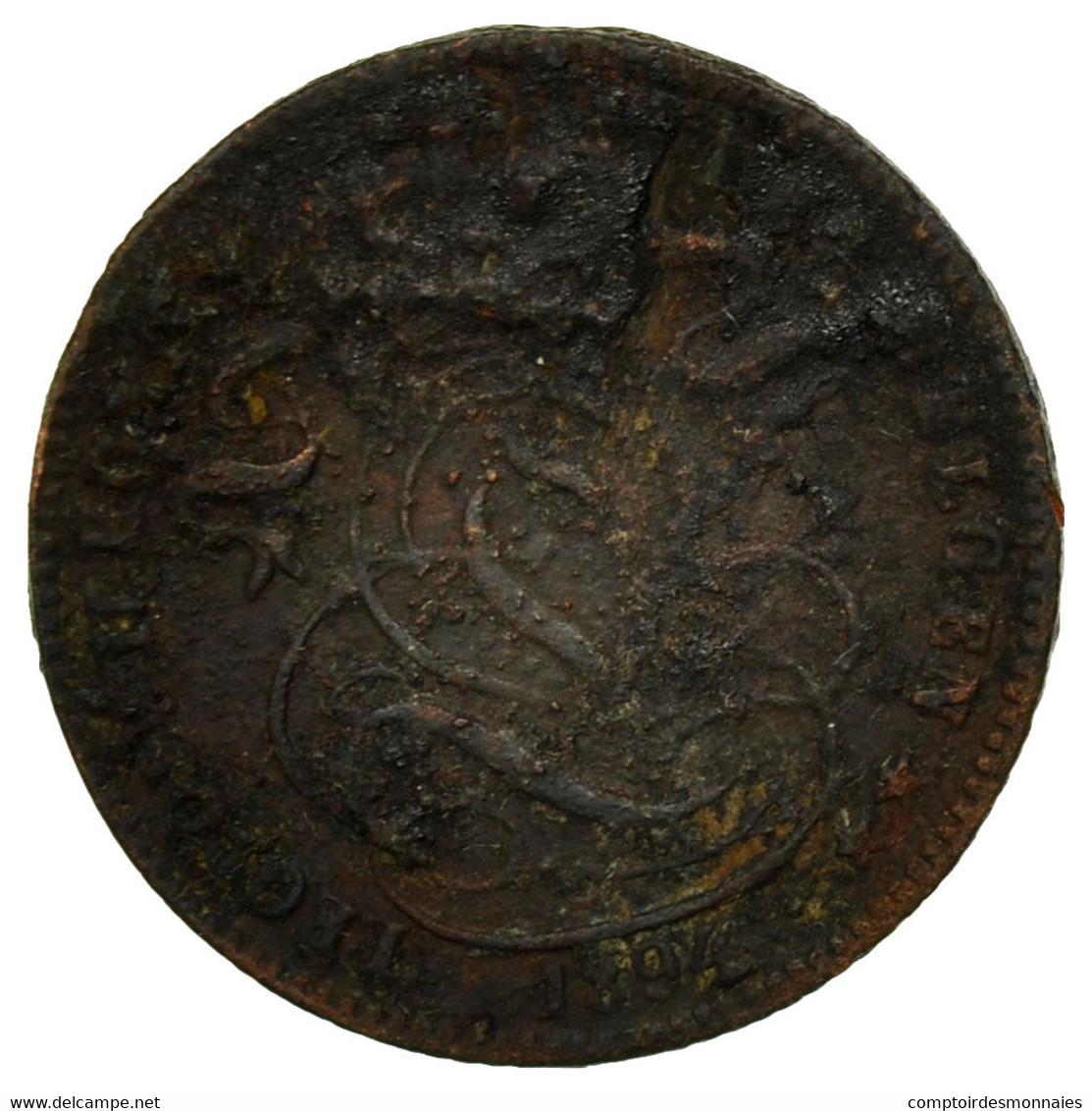 Monnaie, Belgique, Leopold II, Centime, 1894, B+, Cuivre, KM:34.1 - 1865-1909: Leopold II