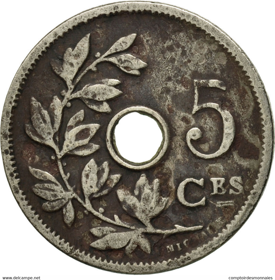 Monnaie, Belgique, 5 Centimes, 1906, TB, Copper-nickel, KM:54 - 1865-1909: Leopold II