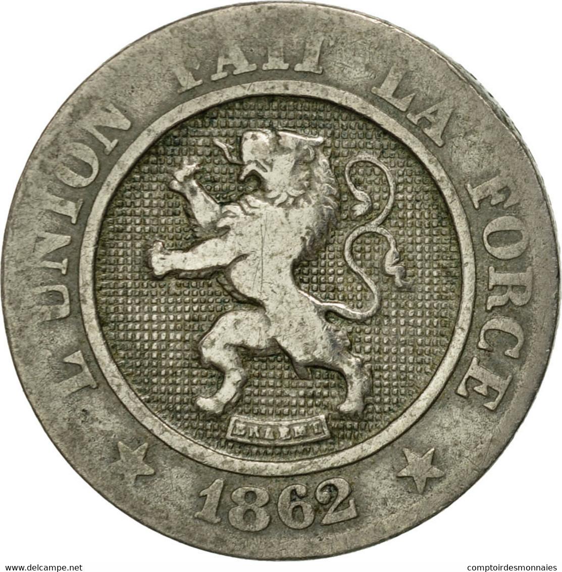 Monnaie, Belgique, Leopold I, 10 Centimes, 1862, TB, Copper-nickel, KM:22 - 1831-1865: Léopold I