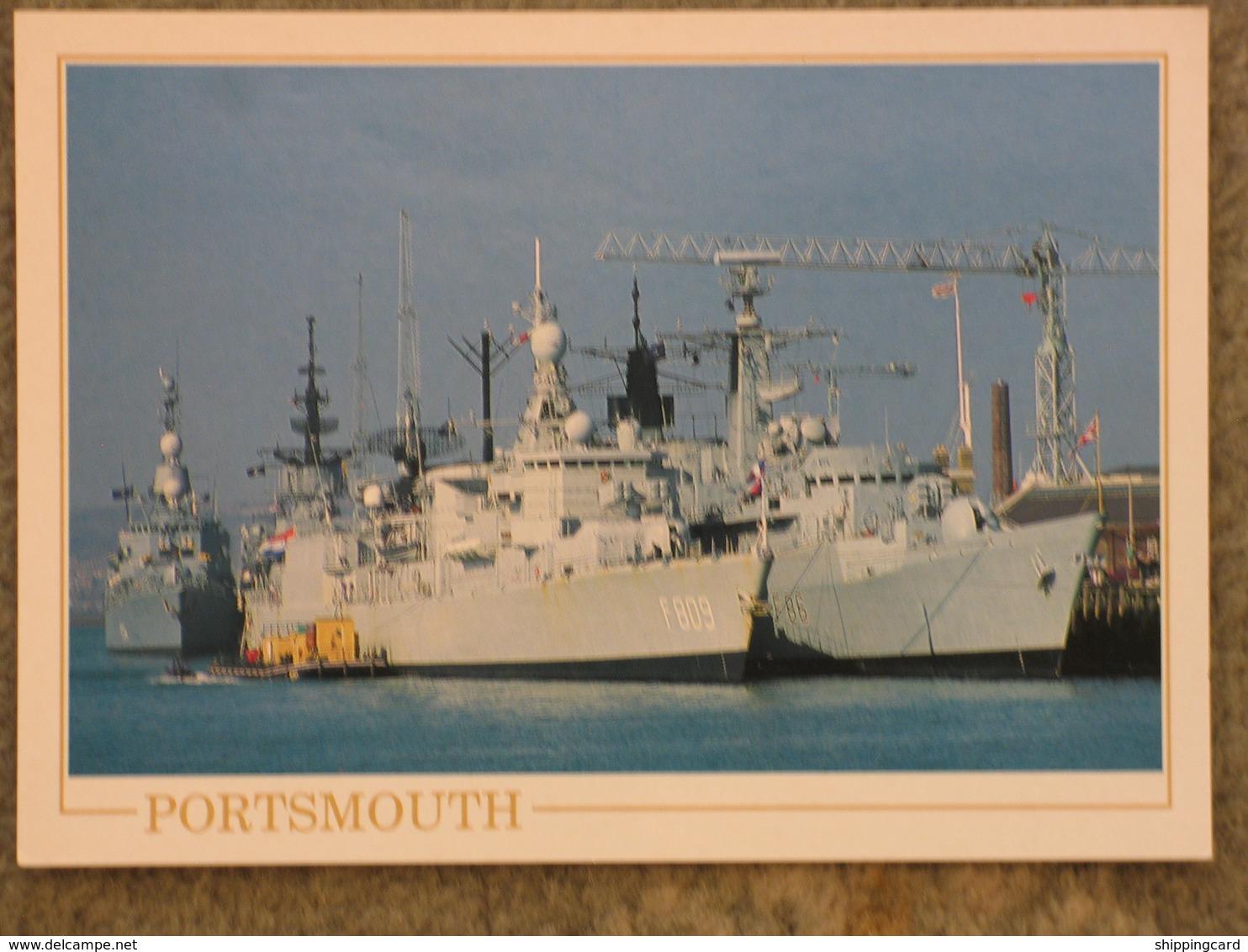 PORTSMOUTH NAVAL DOCKYARD - Warships