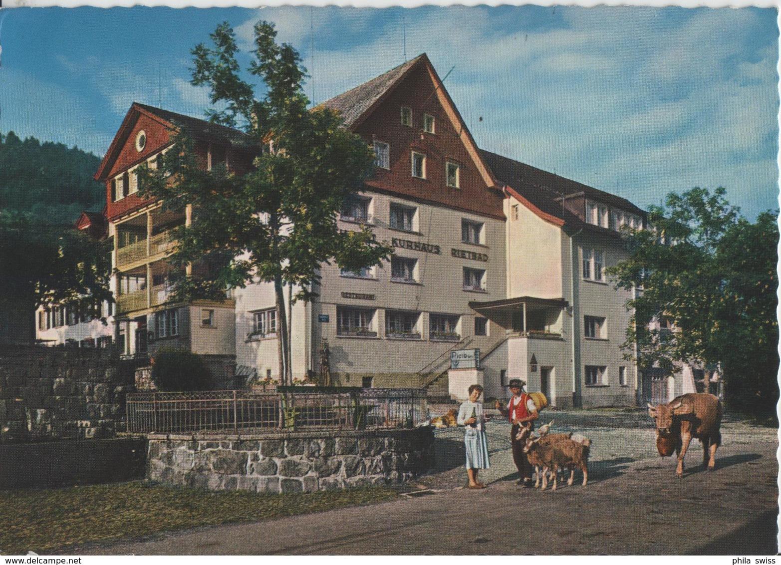 Hotel Kurhaus Rietbad (Toggenburg) Hunde, Kuh, Geisen Chevres Goat - Photo: Rud. Suter - SG St. Gall