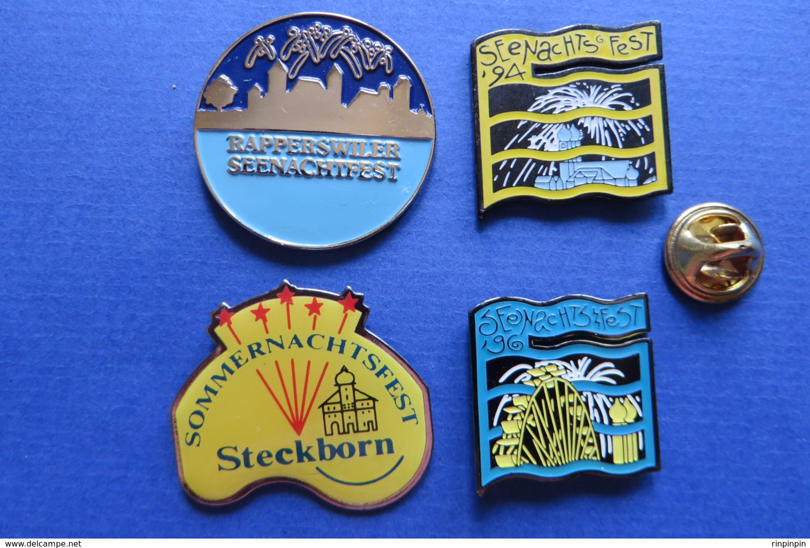 Lot De 4 Pin's, Feu D'artifice,grande Roue,SeenachtFest Rapperswil,Steckborn,Riesenrad,Feuerwerk - Autres