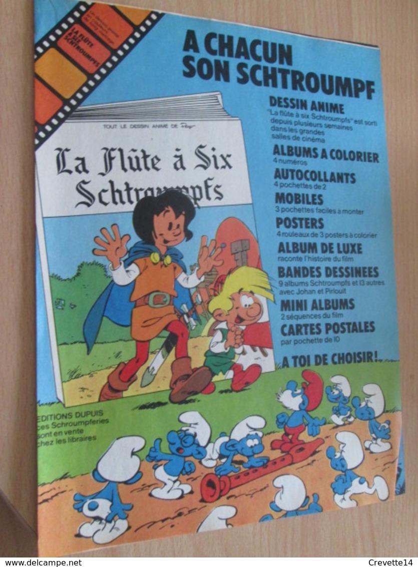 CLI518 :  Page PUB A4 Spirou Années 60/70 Avec Nouvel Album Paru De La Série JOHAN ET PIRLOUIT ET SCHTROUMPFS - Johan Et Pirlouit