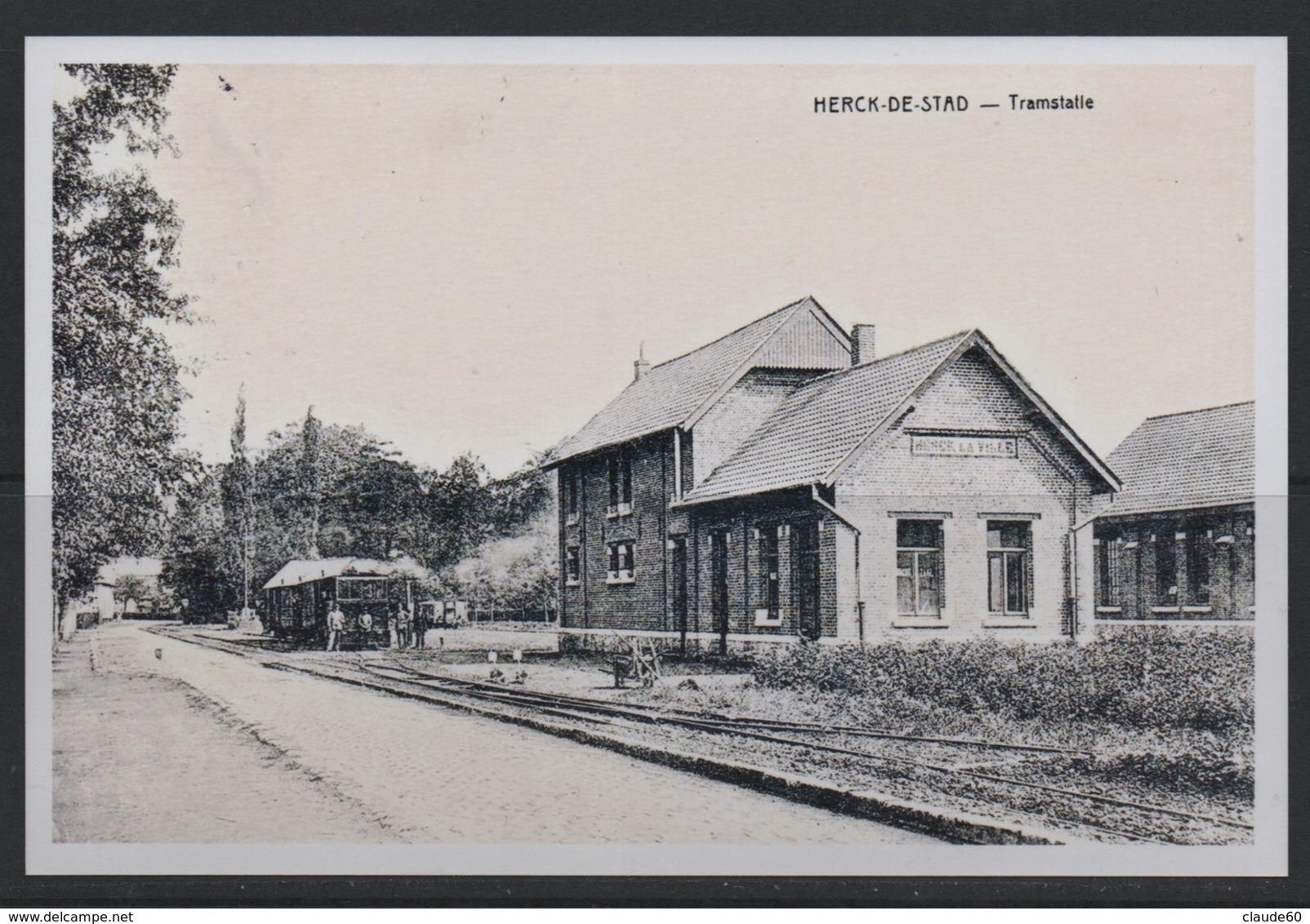 REPRODUCTION  HERCK HERK DE STAD LIMBURG TRAM TRAMWAY - Herk-de-Stad