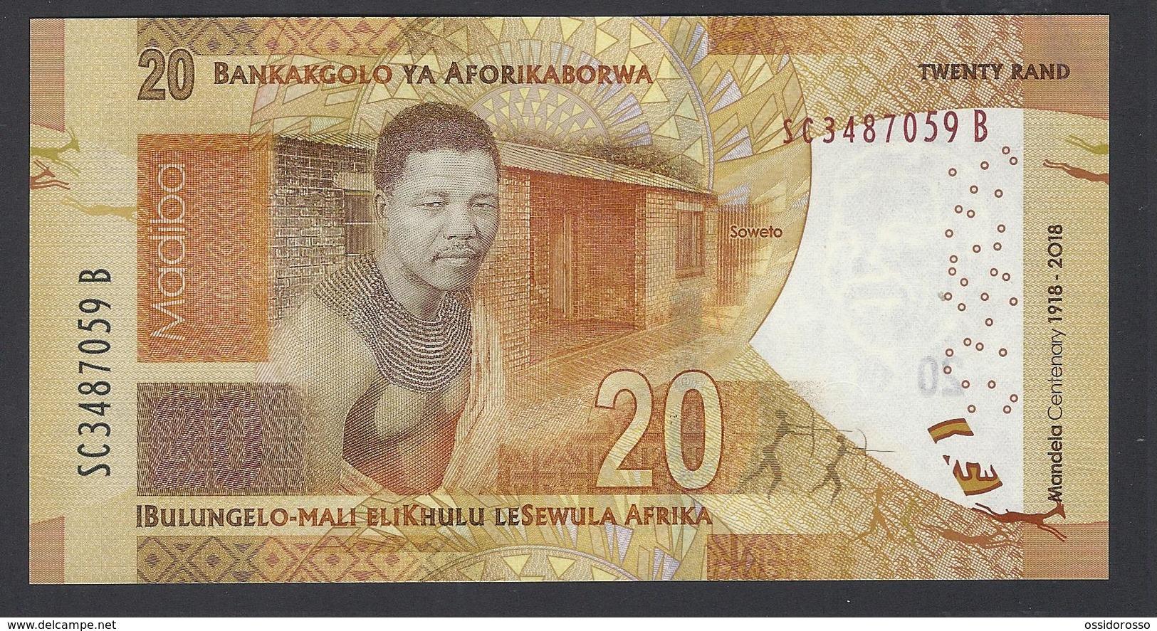 South Africa - 20 Rand - Mandela Centenary 1918-2018 - SC 3487059 B - MSPL/SPL - Sudafrica