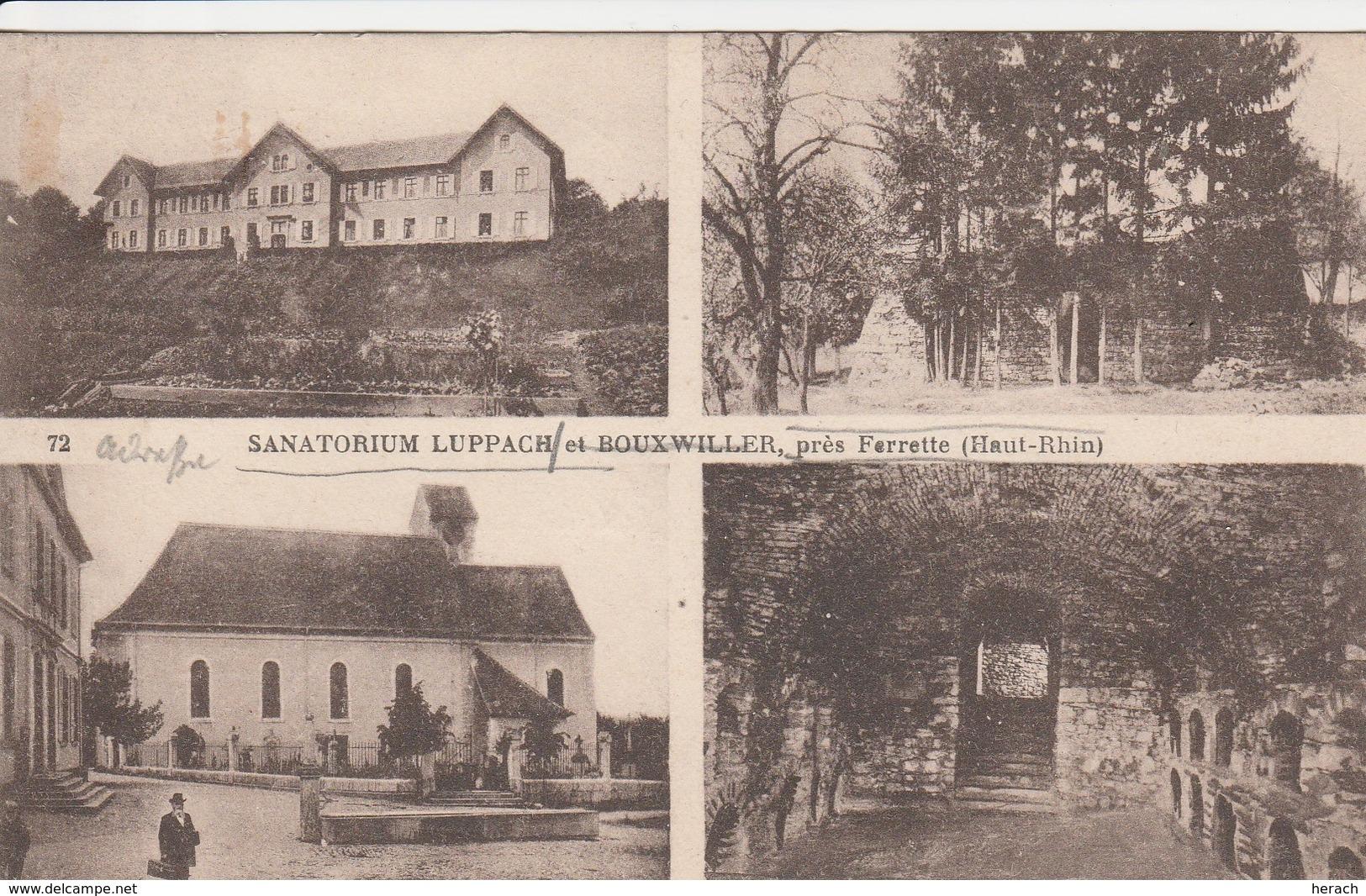 France Alsace Ambulant Ferrette à Mulhouse 1° Sur Carte Postale 1930 - Marcophilie (Lettres)