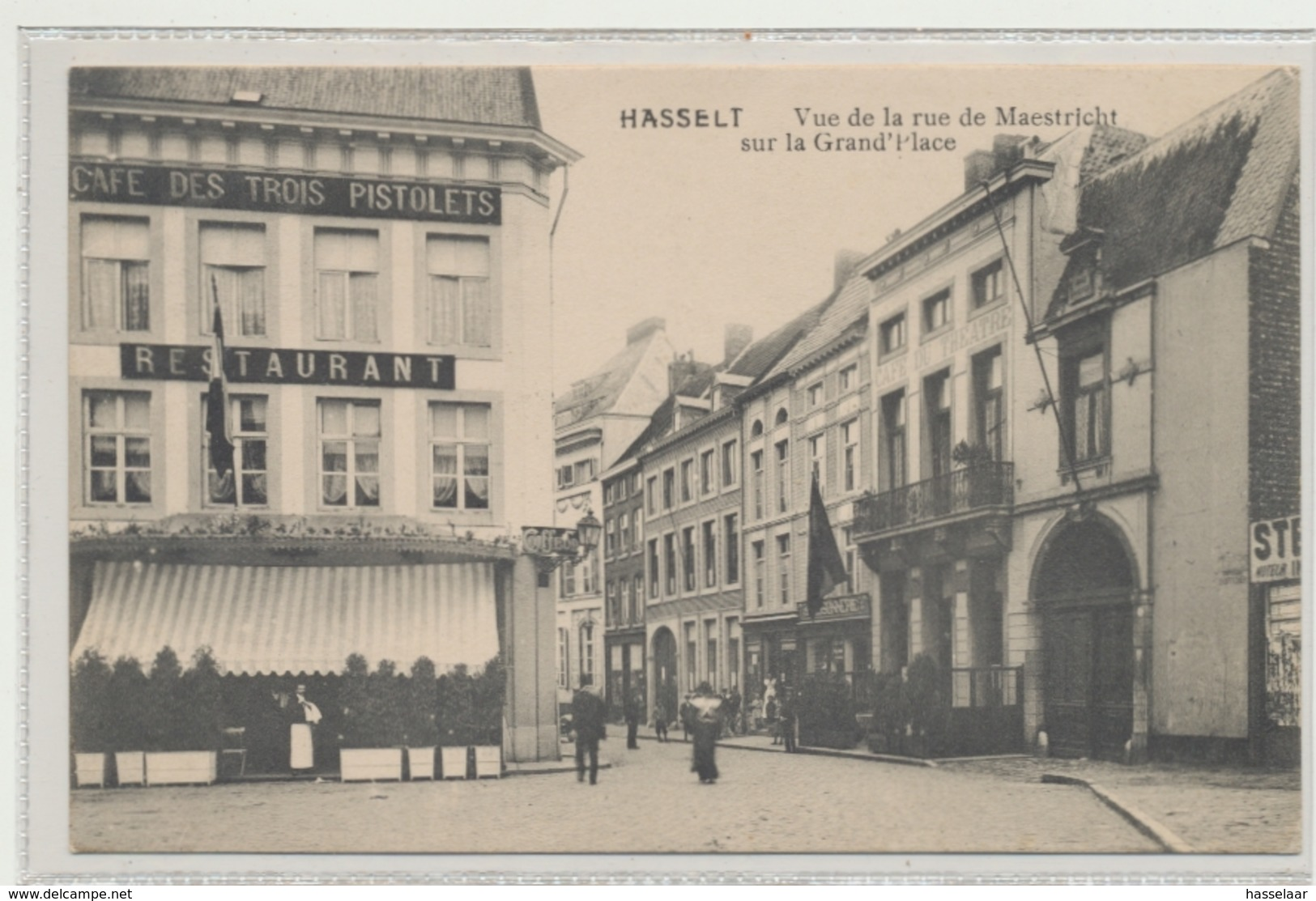Hasselt - Vue De La Rue De Maestricht Sur La Grand'Place - Hasselt
