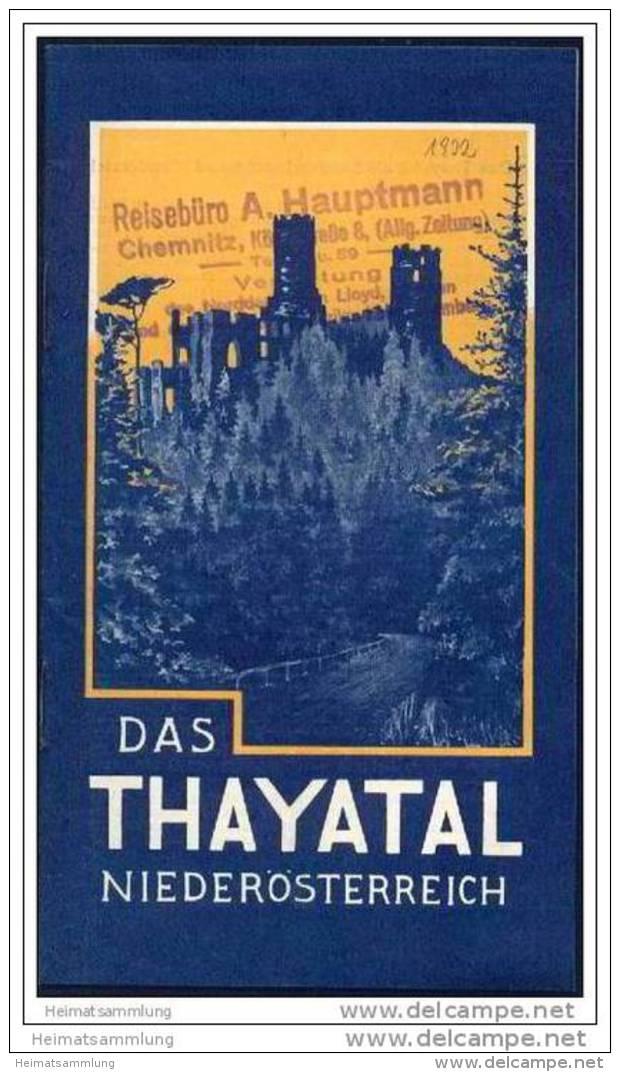 Das Thayatal 1932 - 18 Seiten Mit 16 Abbildungen - Oesterreich