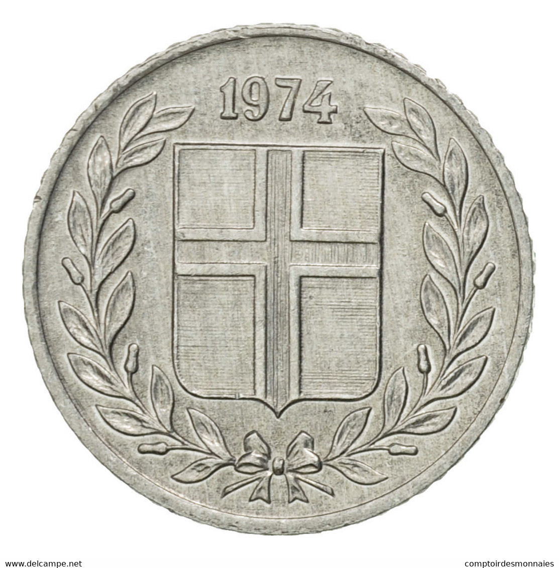 Monnaie, Iceland, 10 Aurar, 1974, TB+, Aluminium, KM:10a - Island