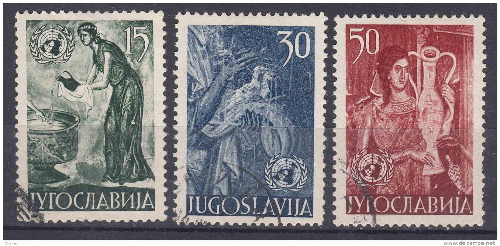 Yugoslavia Republic Art 1953 Mi#714-716 Used - 1945-1992 Socialistische Federale Republiek Joegoslavië