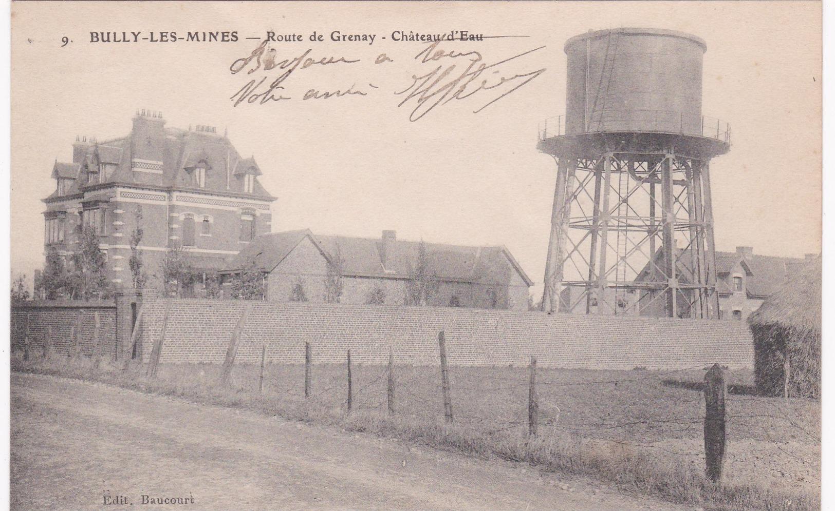 Pas De Calais - BULLY-LES-MINES - Route De Grenay - Château D'Eau - France