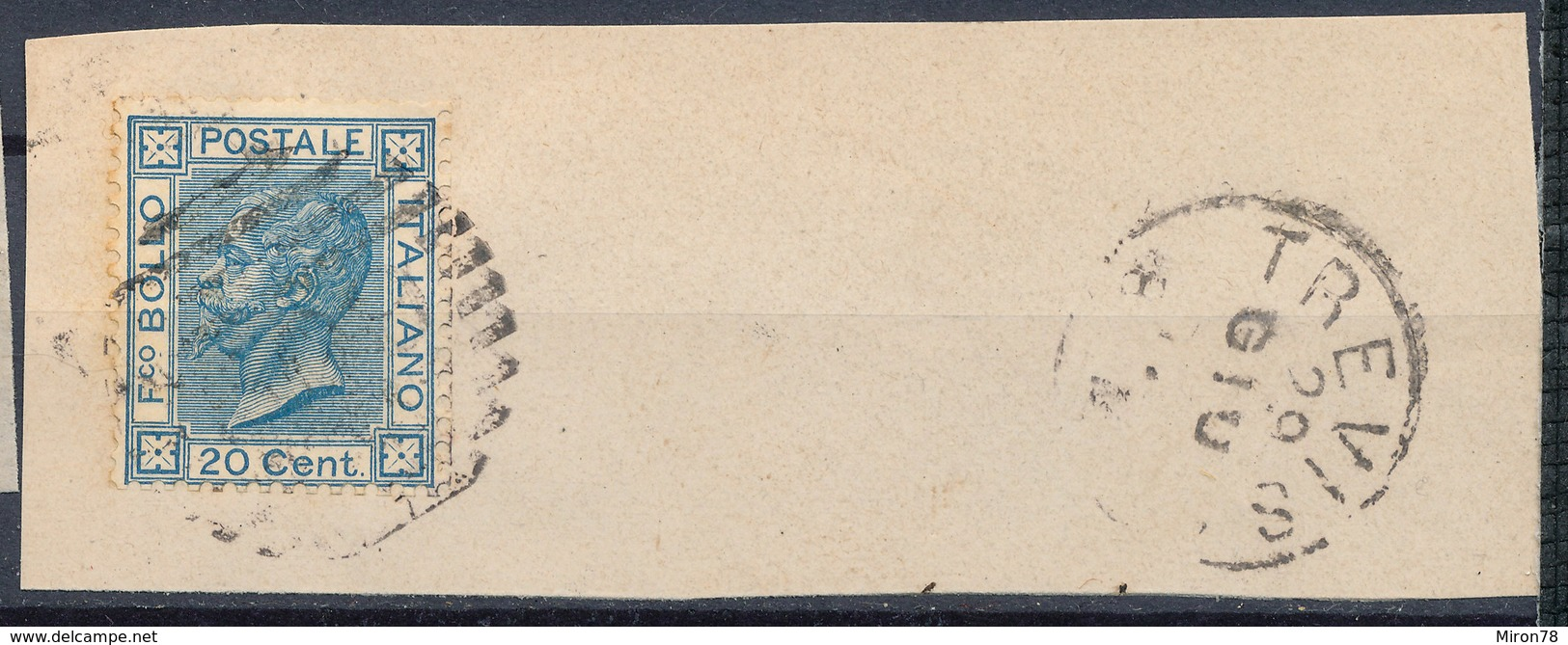ITALY - Regno 1867 - Vittorio Eman II - 20 Cent  Fancy Cancel Numeral Used Lot#32 - Used