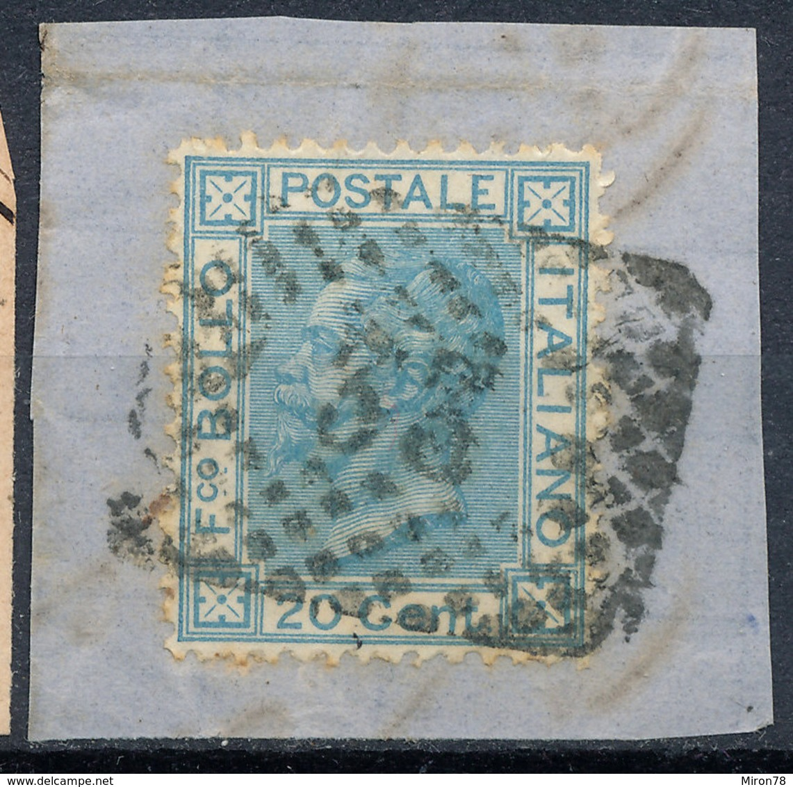 ITALY - Regno 1867 - Vittorio Eman II - 20 Cent  Fancy Cancel Numeral Used Lot#137 - 1861-78 Vittorio Emanuele II