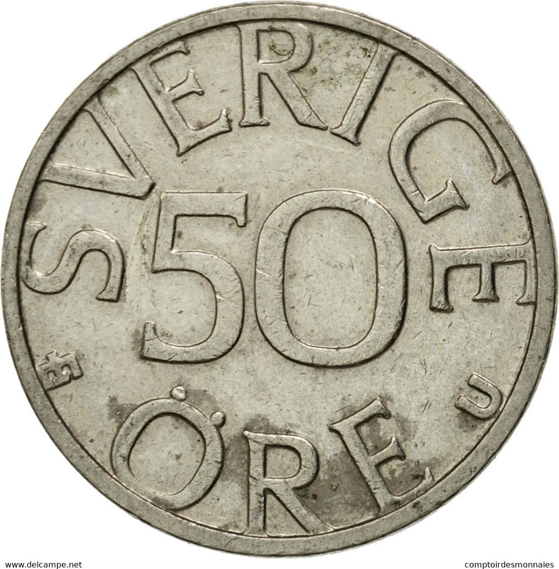 Monnaie, Suède, Carl XVI Gustaf, 50 Öre, 1984, TTB, Copper-nickel, KM:855 - Suède