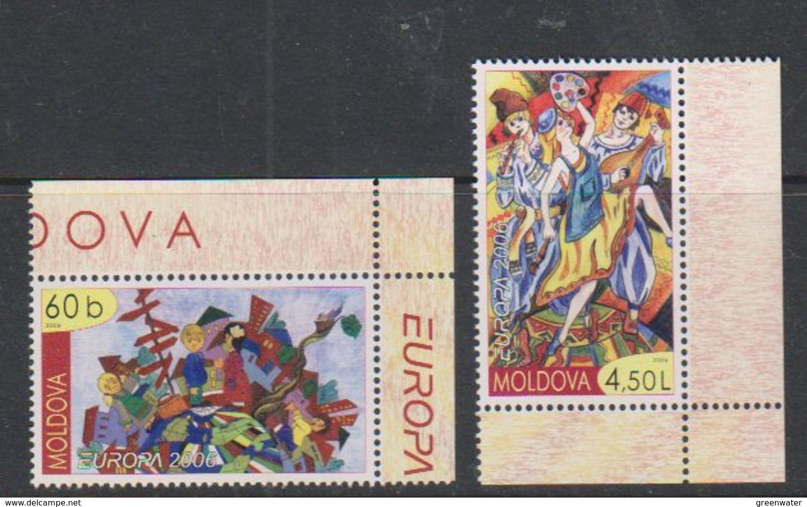Europa Cept 2006 Moldova 2v  (corners) ** Mnh (39882) - Europa-CEPT