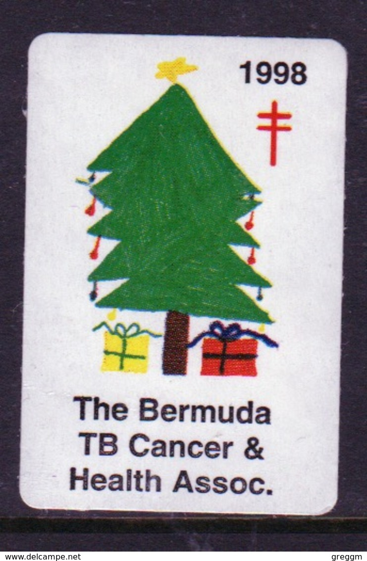Bermuda  Single Christmas Charity Label From 1998 In Unused Condition. - Cinderellas