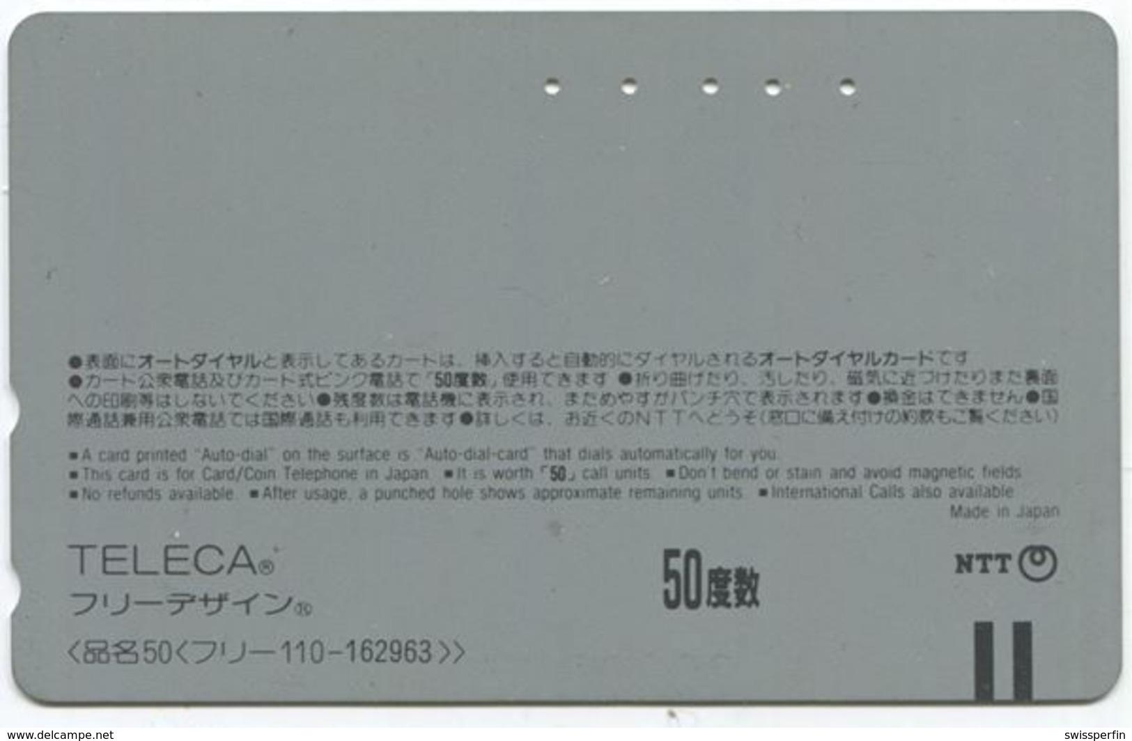 1963 - Seltene Manga Anime Japan Telefonkarte - BD