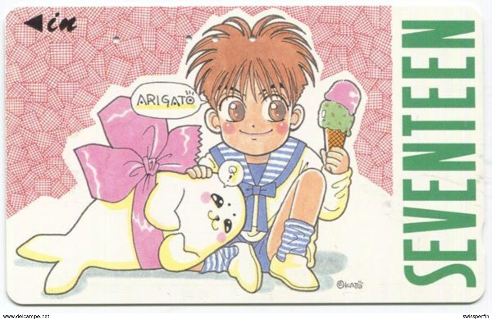 1972 - SEVENTEEN Manga Anime Japan Telefonkarte - Comics