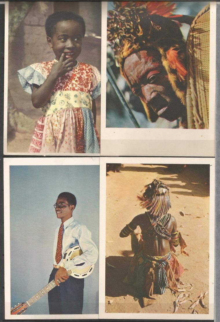 "Belgian Congo 4 Postcards  ""B.P. 74, LEOPOLDVILLE"" (LOT1) - Belgian Congo - Other"