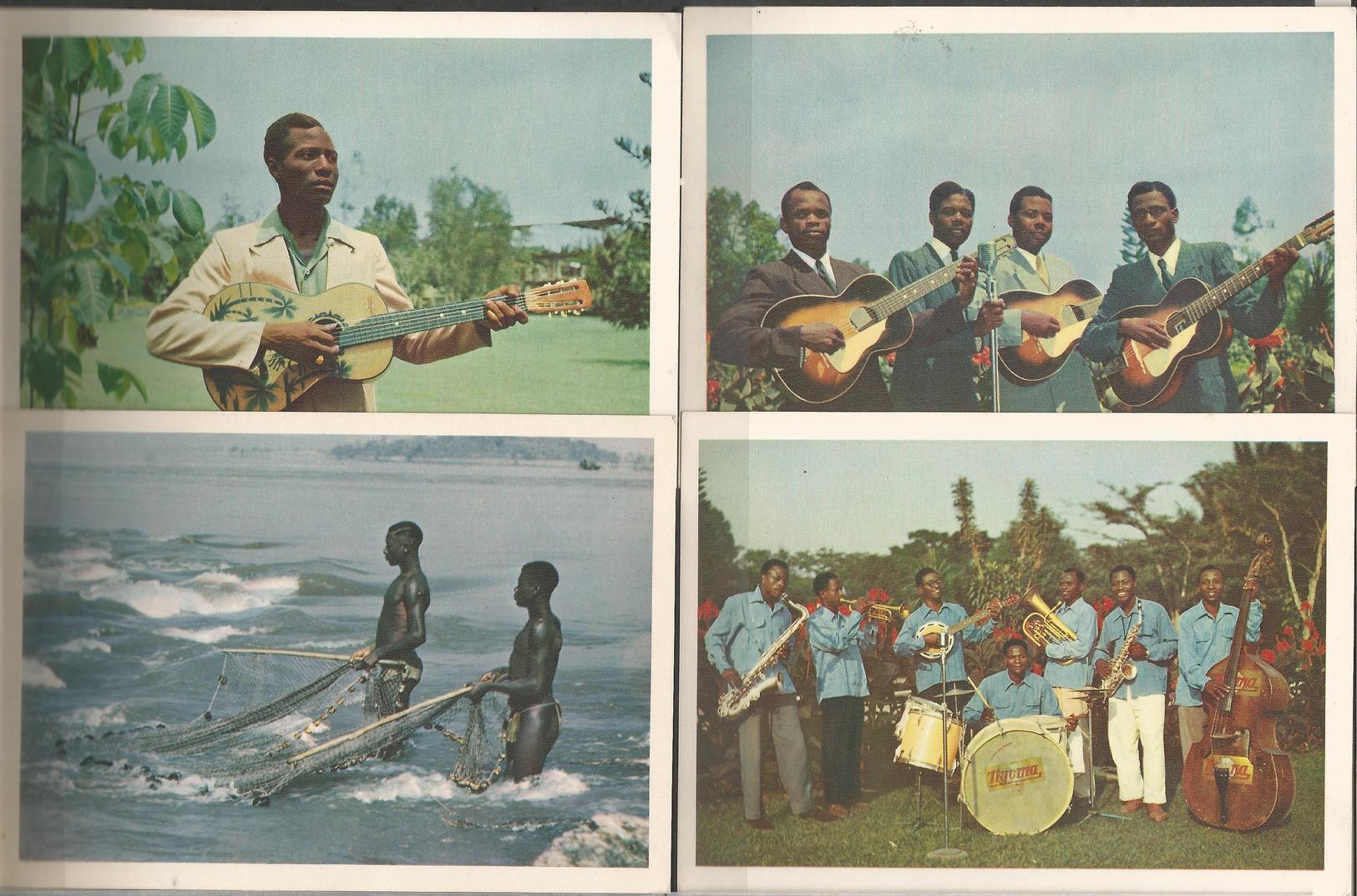 "Belgian Congo 4 Postcards  ""B.P. 74, LEOPOLDVILLE"" (LOT2) - Belgian Congo - Other"
