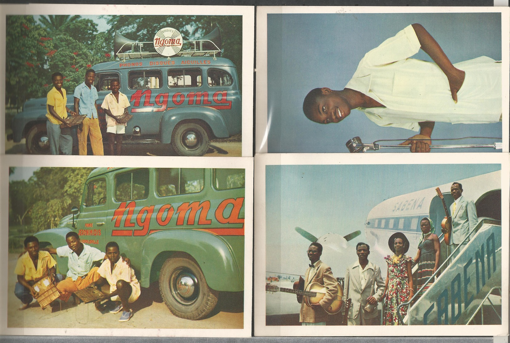 "Belgian Congo 4 Postcards  ""B.P. 74, LEOPOLDVILLE"" (LOT3) - Belgian Congo - Other"