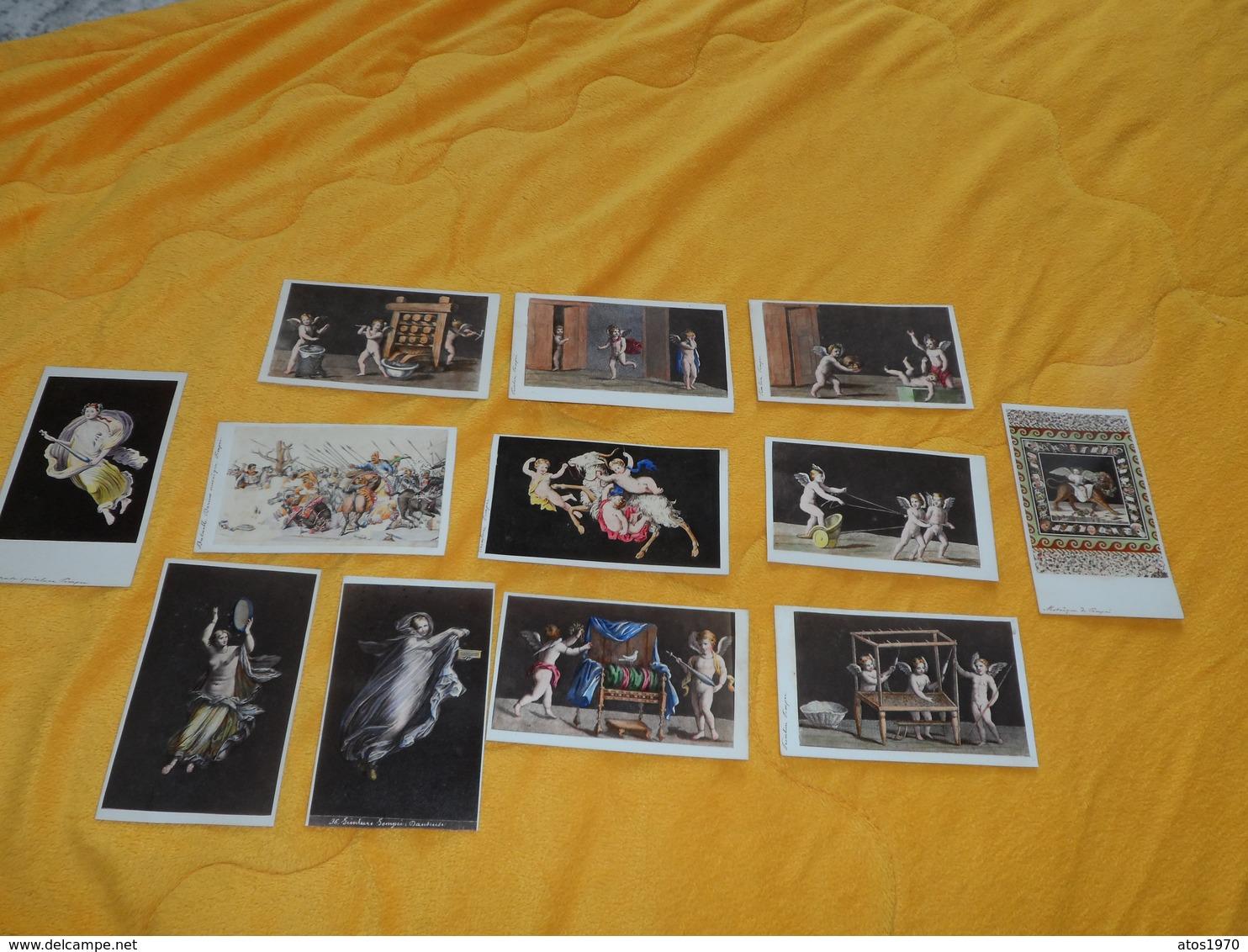LOT 12 PHOTOS A IDENTIFIER DONT 1 AMODIO NAPLES MILANO. LES AUTRES PHOTOGRAPHIE ARTISTIQUE..MOSAIQUE  POMPEI PEINTURE - Altri