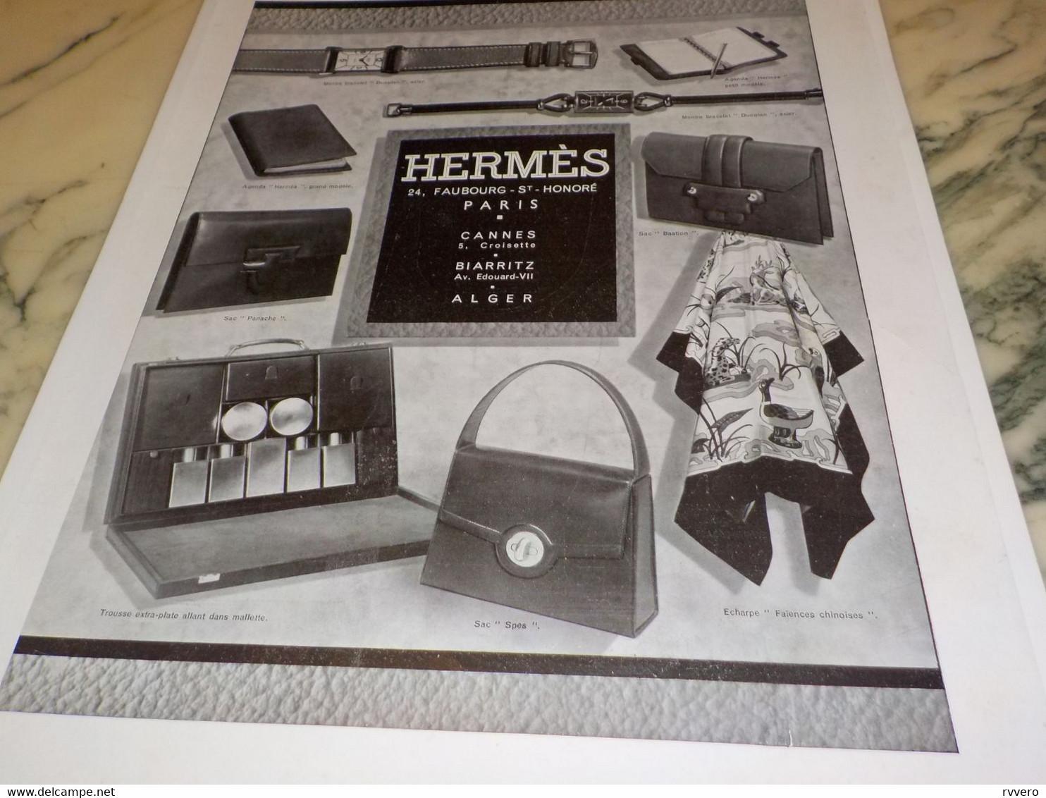 ANCIENNE PUBLICITE  HERMES CADEAUX 1940 - Autres