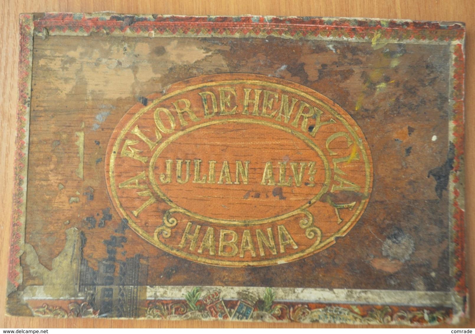 La Flor By Henry Clay Conchas De Regalía. Wooden Lid From The Box - Étuis à Cigares