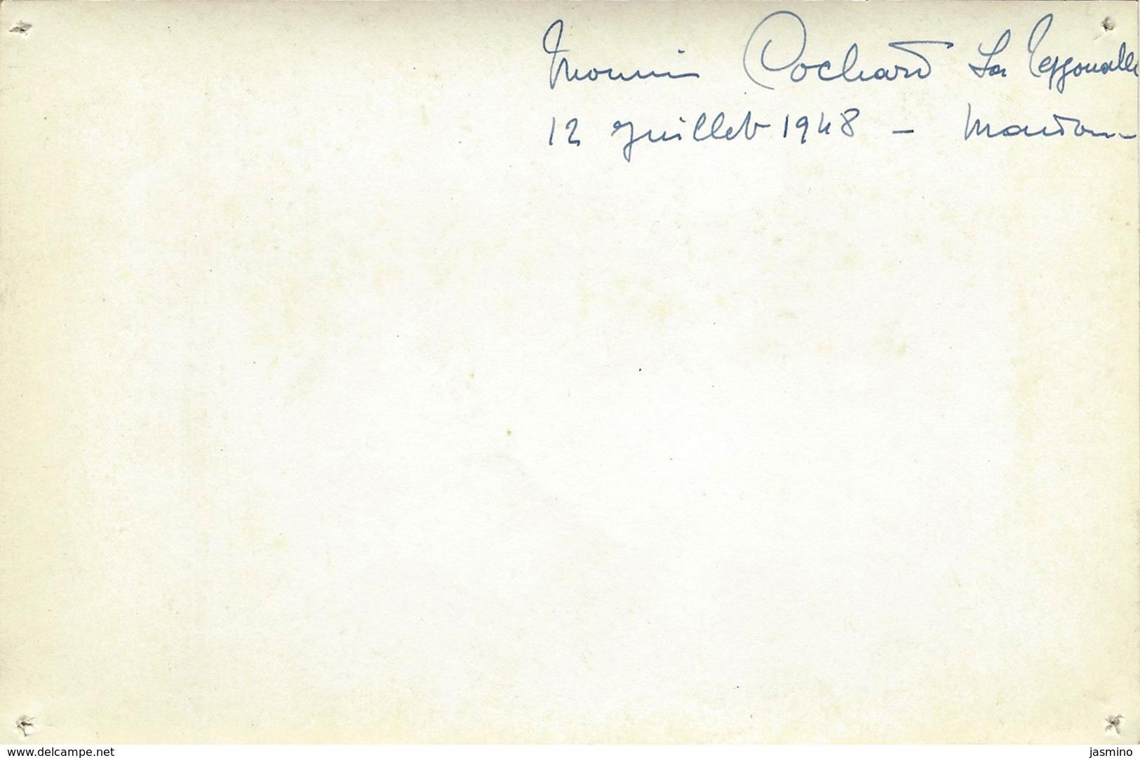 La Tessoualle Phot. Construction Maison 12 /07/1948 - France