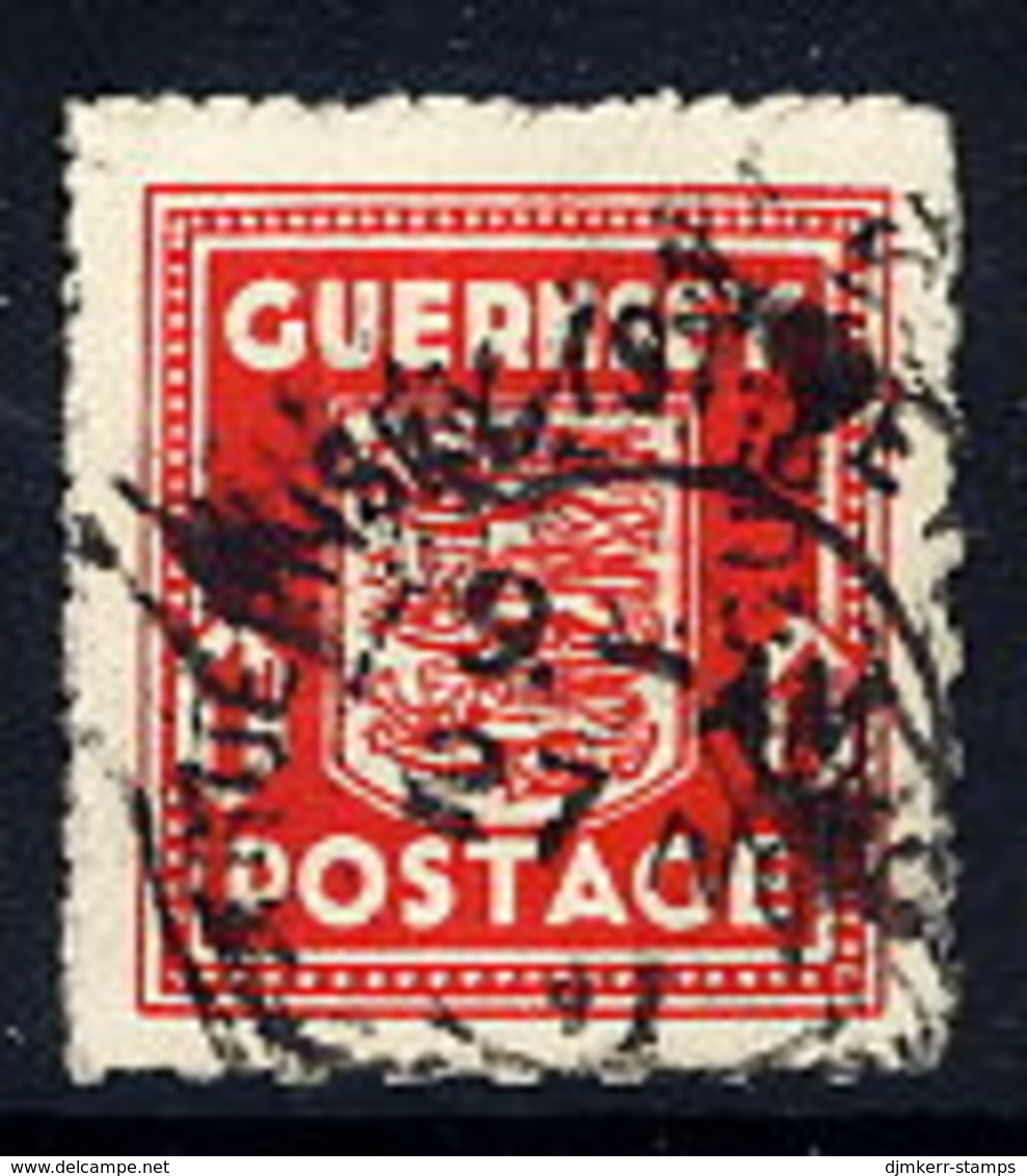 GUERNSEY 1941 Arms 1d. Definitive Used. Michel 2u - Occupation 1938-45