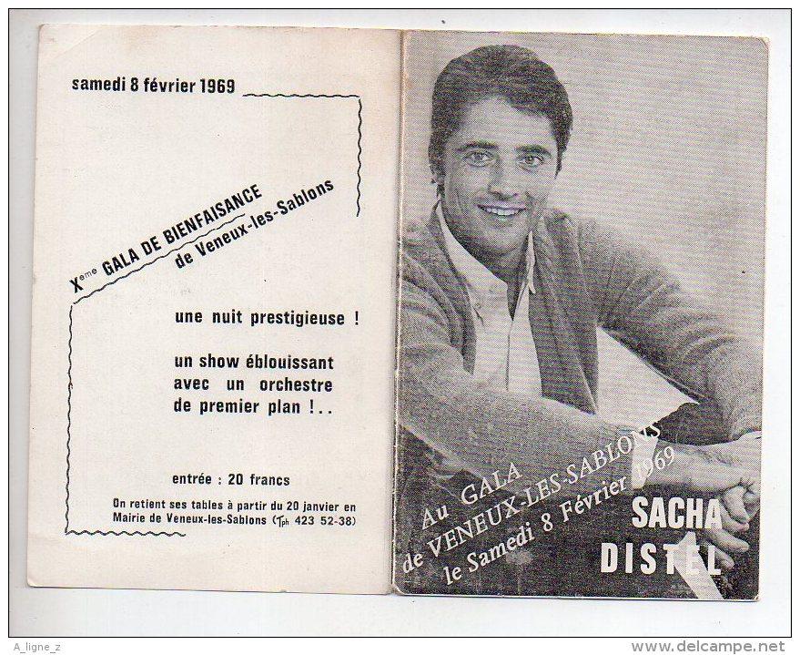 REF 342  :  Calendrier Sacha Distel 1969 Au Gale De Veneux Les Sablons - Calendriers