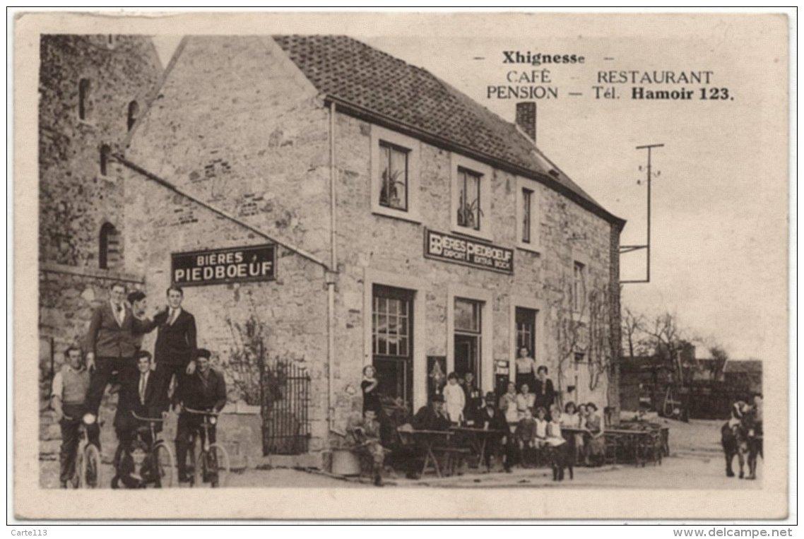 - T26400CPA - XHIGNESSE - HAMOIR - Belgique - Café Pension Restaurant - Biere PIEDBOEUF - Très Bon état - EUROPE - Hamoir