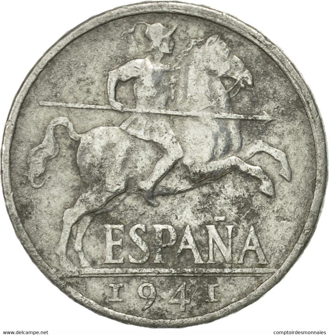 Monnaie, Espagne, 10 Centimos, 1941, TB, Aluminium, KM:766 - [ 4] 1939-1947 : Nationalist Government