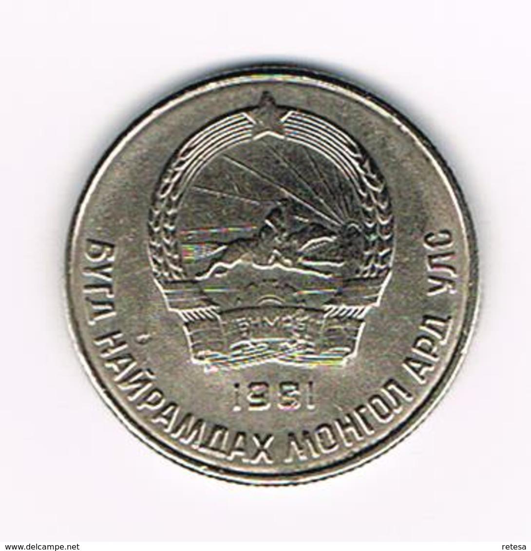 &  MONGOLIE  20 MONGO  1981 - Mongolie