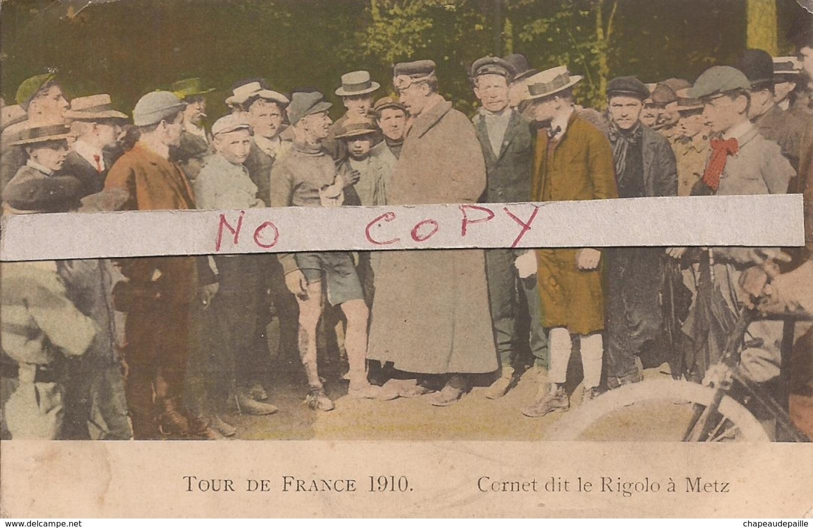Tour De France 1910 - Cornet Dit Le Rigolo à Metz (réf. 65cp) - Cyclisme