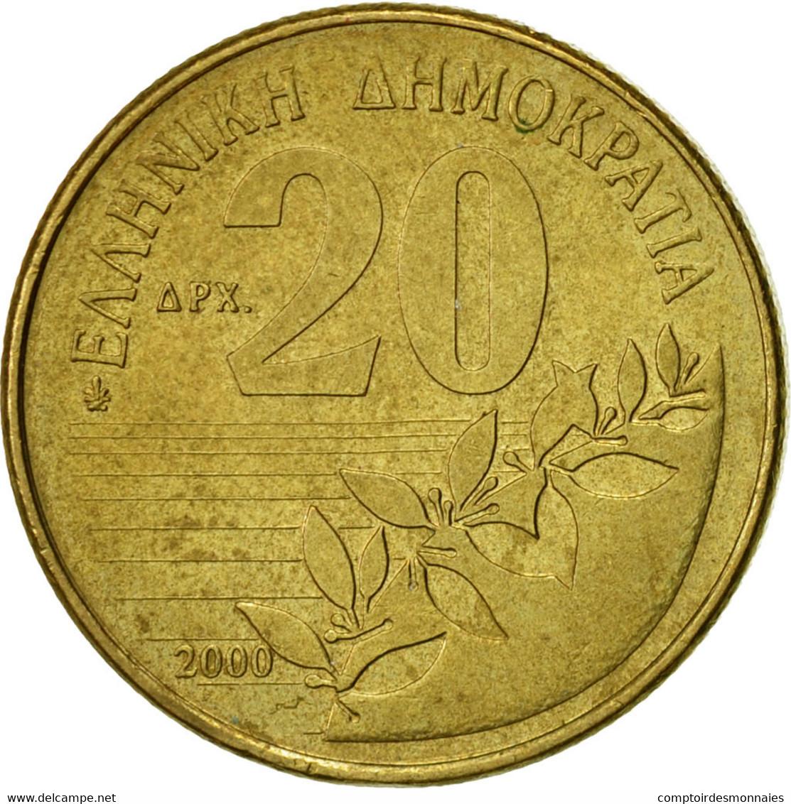 Monnaie, Grèce, 20 Drachmes, 2000, TTB, Aluminum-Bronze, KM:154 - Grèce