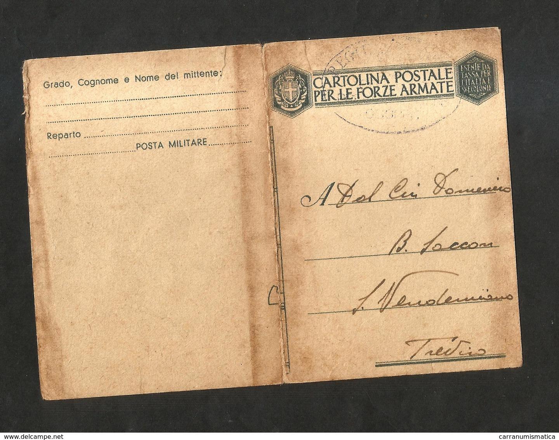 Cartolina Postale - Amedeo Di Savoia Duca D' Aosta - La Canzone Del Duca Di Ferro / Profonda Piega Centrale - Guerra 1939-45