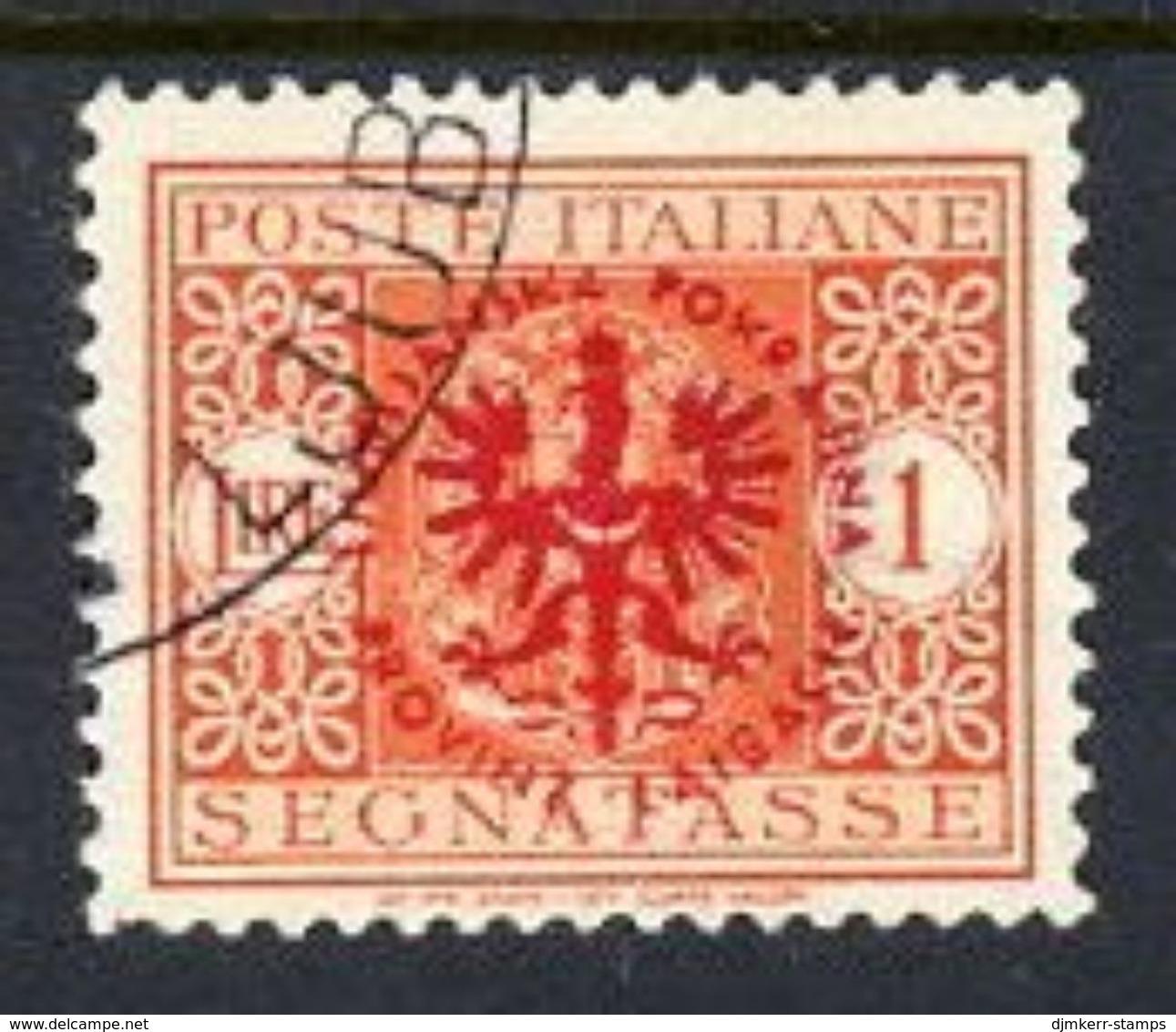 LJUBLJANA PROVINCE 1944 Postage Due 1 L. Used.  Michel Porto 8 - Occupation 1938-45