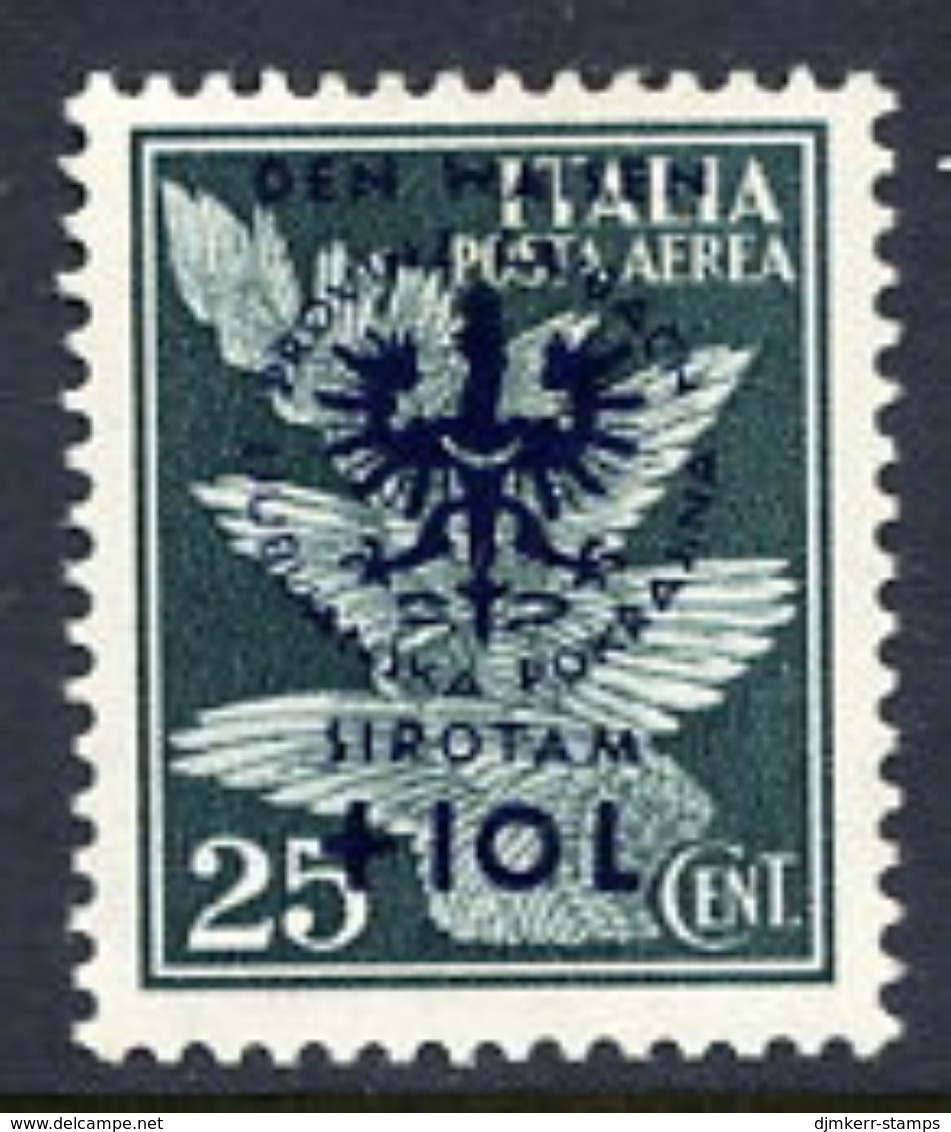 LJUBLJANA PROVINCE 1944 Orphans' Fund 25 C. + 10 L. MNH / **.  Michel 33 - Occupation 1938-45