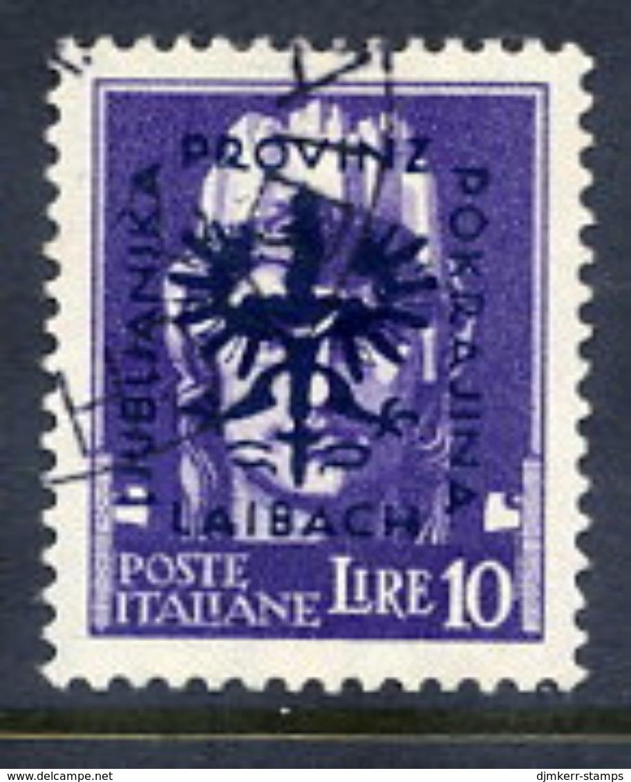 LJUBLJANA PROVINCE 1944 Definitive 10 L. Used.  Michel 16 - Occupation 1938-45
