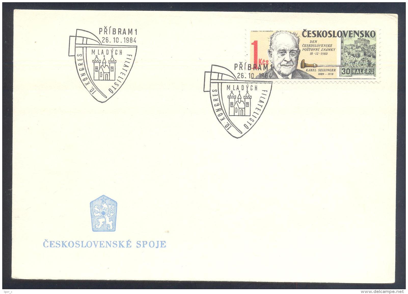 Czech Republic 1984 Card - Minerals Fosils Mine Mineralien Paleontolyogy Speleology Karel Seizinger Castle Schloss - Mineralien