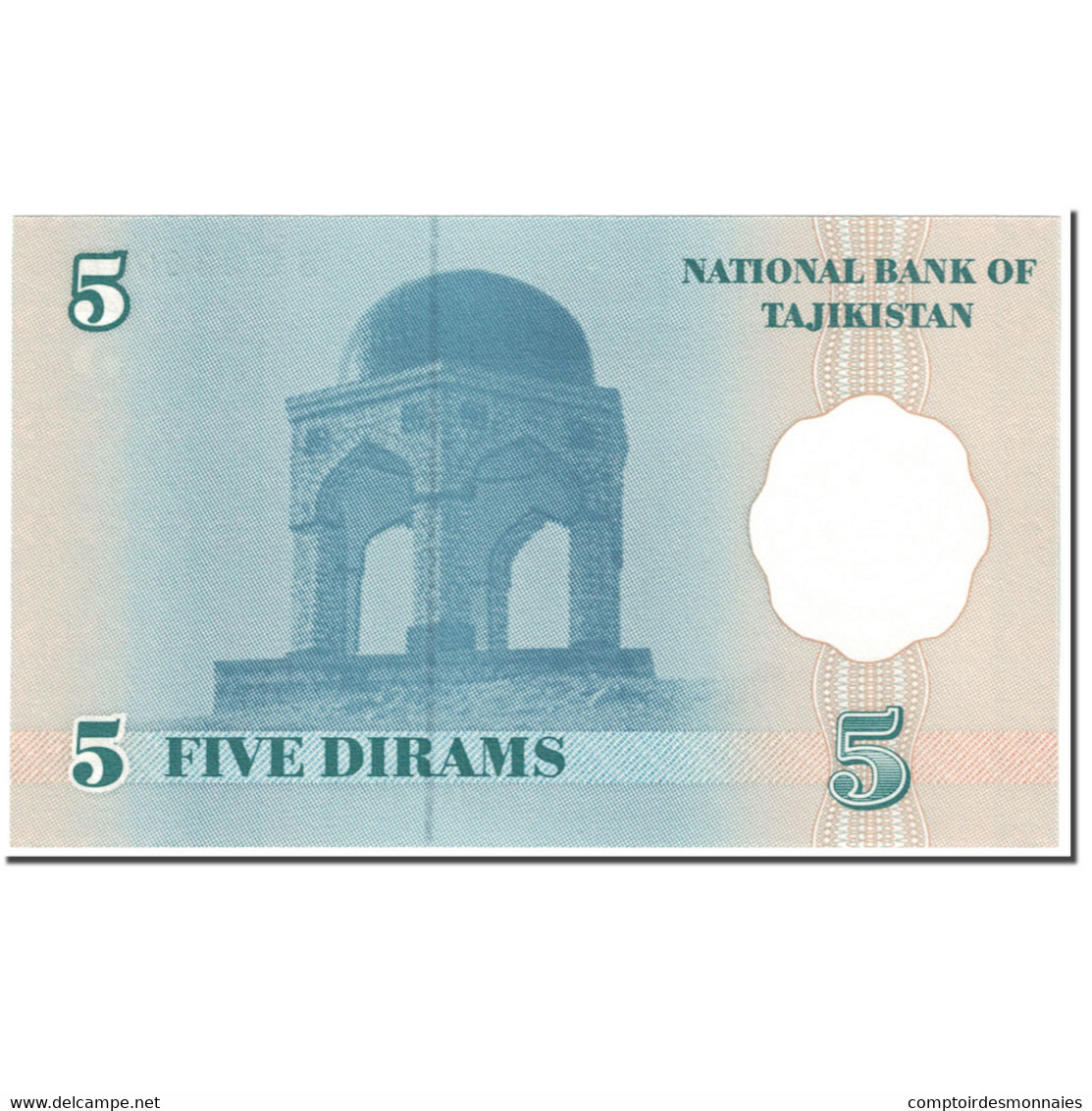 Billet, Tajikistan, 5 Diram, 1999-2000, Undated (1999-2000), KM:11a, NEUF - Tadjikistan