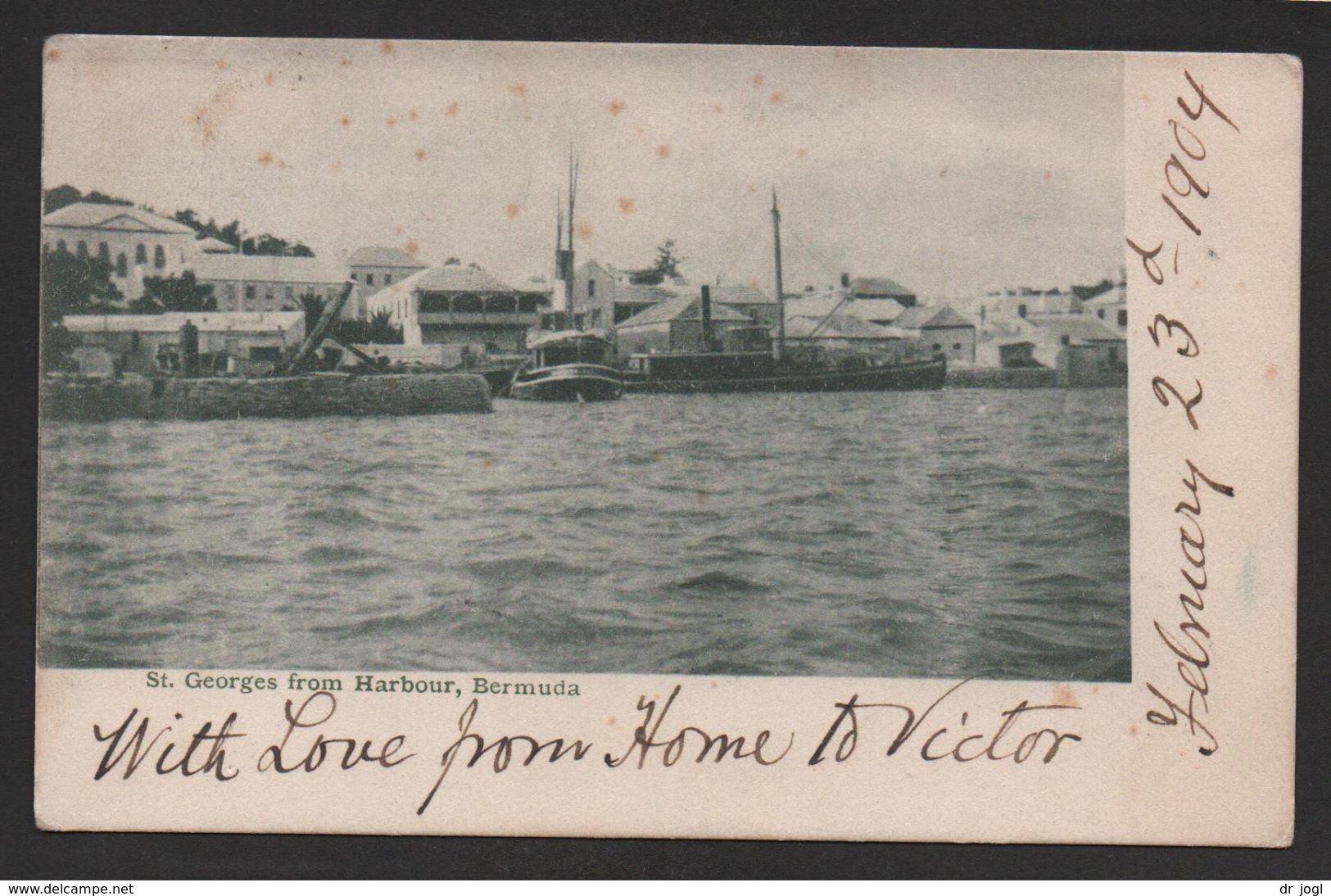 BM11) - View Of St. Georges From Harbour - Posted 1904 - Bermuda