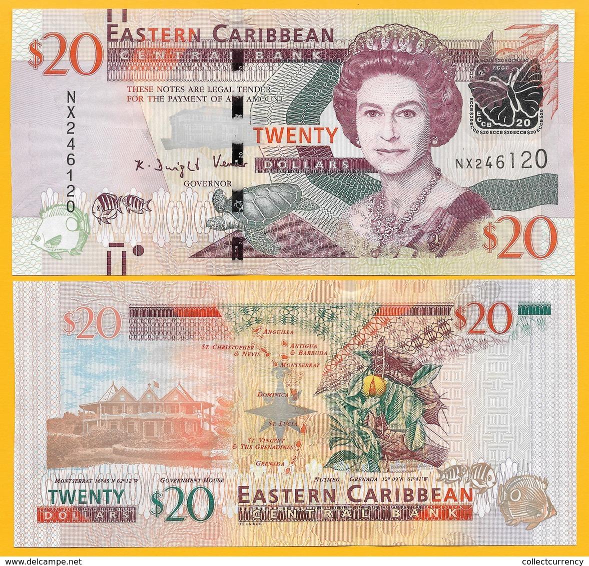 East Caribbean States 20 Dollars P-53b 2016 UNC - Caraïbes Orientales